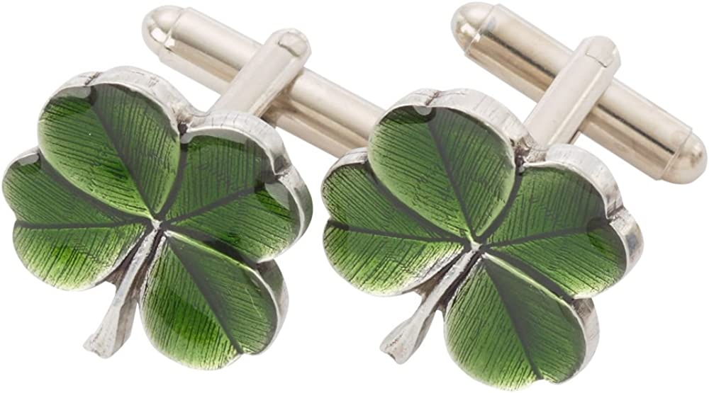 Danforth Four Leaf 5 ☆ very popular Clover Cufflinks Gifts Handcrafted Green – Clo