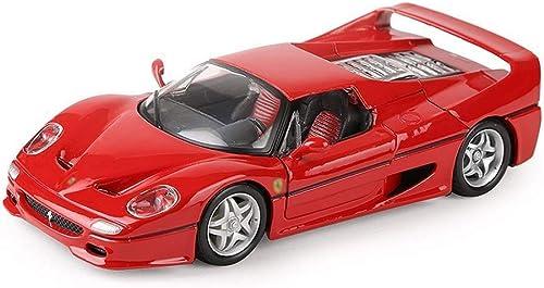 BHDYHM échelle 1 24, modèle à tirer, voiture, jouet, voiture, moulé sous pression, modèle de voiture en métal, véhicules de simulation élevés, modèle de simulation, véhicule de simulation (couleur  ro