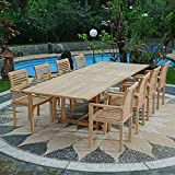 Salon de Jardin en Teck qualité Ecograde Alifax, 8 Places