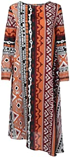 Unique African Style Women Long Sleeve Striped Loose Long Dresses
