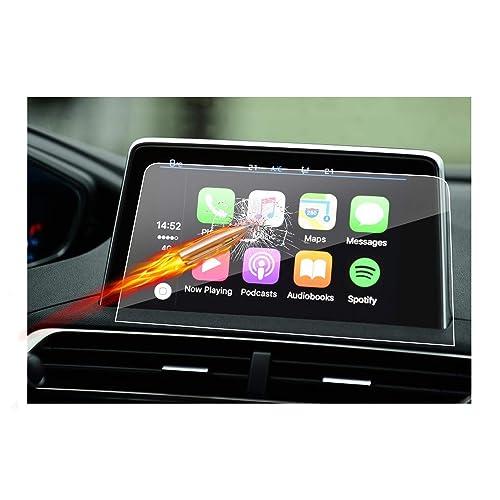 RUIYA Protecteur d'écran en Verre trempé pour Le système de Navigation de (2016-2017) Peugeot 3008 GT / 5008 GT, Crystal HD Protecteur d'écran Transparent [8 Pouces]