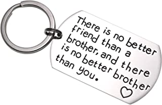 LParkin Brother Gifts Keychain There is No Better Friend Than a Brother and There is No Better Brother Than You Gift for Friend Family Jewelry