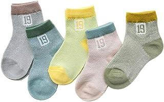 Bryights, Calcetines de bebé 0-3Y 5 pares/lote bebé bebé calcetines lindo verano transpirable malla calcetín recién nacido algodón calcetines cortos niños y niñas