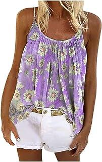 Letdown(TM) Women Casual Gradient Print Sleeveless Camisole Vest Blouse Tops Women Summer Fashion 2020