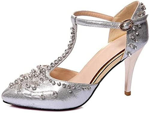 XIE schuhe de damen piel genuina Vestido de novia Diamante Mary Jane Bombas tamaño 36 a39
