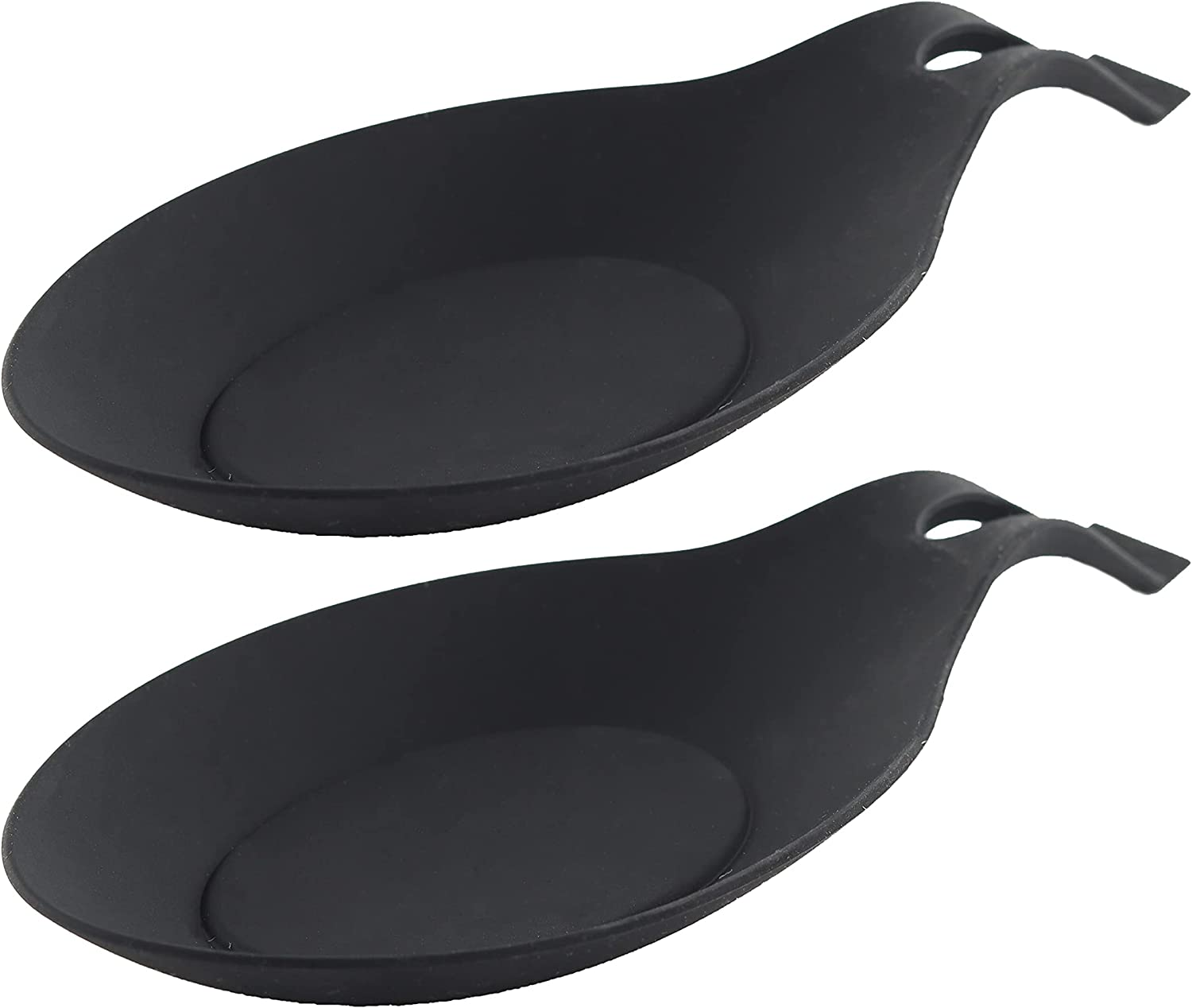 Round Silicone Spoon Rests favorite Max 80% OFF - of 2 Set Black