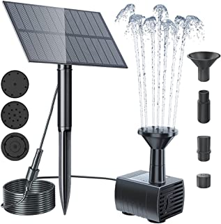 Biling Solar Water Fountain Pump Outdoor, 2021 Upgraded Solar Fountain Pond Pump Kit with Stake, Solar Powered Water Fount...
