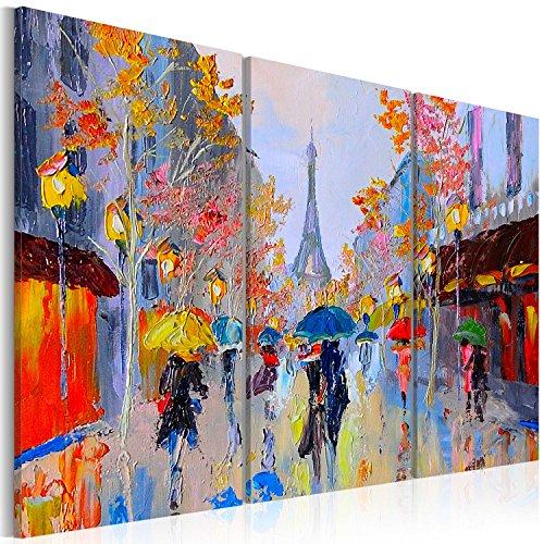 murando - Cuadro en Lienzo 120x80 cm Impresión de 3 Piezas Material Tejido no Tejido Impresión Artística Imagen Gráfica Decoracion de Pared Paris City Torre Eiffel d-B-0064-b-e