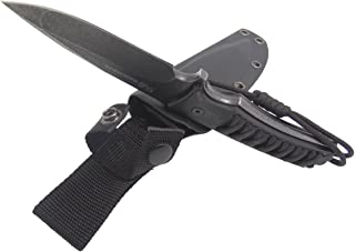 Masalong Fixed Blade Hunting Knife Straight Edge Blade Extreme Survival D2 Steel and Sheath