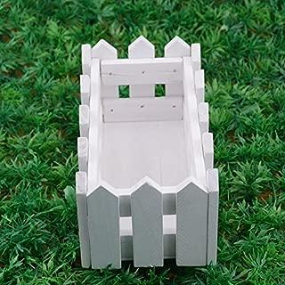 Ogquaton Vallado en Miniatura Decoraci/ón de jard/ín Bricolaje Jard/ín de Hadas Accesorios de Madera para cercas Durable y pr/áctico