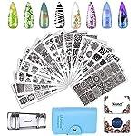 Biutee 19pcs Nail Stamp Plates set 15 plate
