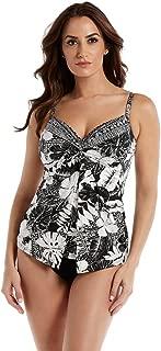 Women's Swimwear Castaway Love Knot DD Cup Size Sweetheart Neckline Underwire Bra Tankini Bathing Suit Top