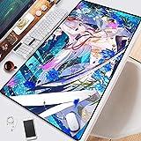 DMWSD Azul carril Shoukaku oscilación Caracteres Un Cuchillo juego de dibujos animados grande del juego profesional ratón estera del cojín de la tabla de gran tamaño costura antideslizante for Escrito