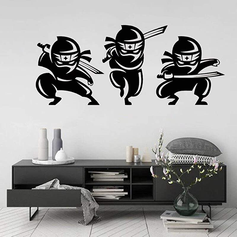 Wall Sticker Mural Art Decal Removable Vinyl Decal Art Mural Home Decor Wall Decal Cartoon Asian Ninjas Decor For Children S Room Creative Wall Stickers Vinyl Boys