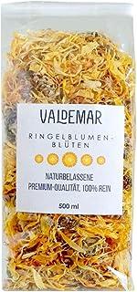 Valdemar Manufaktur essbare Premium RINGELBLUMEN-Blüten, 500ml - HANDVERPACKT In Deutschland