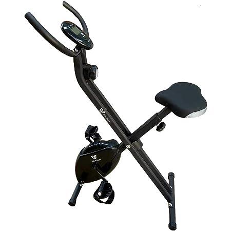 HANKING PLANET Bicicleta estatica Plegable de Resistencia magnética, Bicicleta Plegable Spinning 8 Niveles de Intensidad, Pantalla LCD, Velocidad, ...