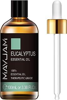 MAYJAM Eucalyptus Essential Oil 100ML/3.38FL.OZ Therapeutic Grade Premium Quality Essential Oils Aromatherapy Essential Oils