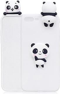 9e463d4088a Meeter Funda iPhone 7 Plus, Carcasa iPhone 8 Plus Silicona, 3D Ultra Delgado  TPU Goma Funda para iPhone 7 Plus / 8 Plus Panda - Blanco Ultrafina Suave  Opaco ...