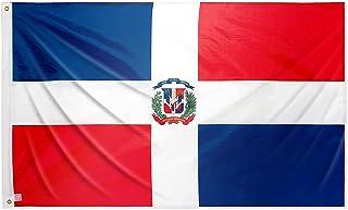 Bandera dominicana grande 150x90 cm bandera República dominicana de balcón para exterior reforzada con dos ojales metálicos