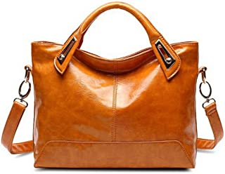 Oil Wax Leather Designer Handbags Shoulder Bags Ladies Handbags Pu Leather Women Bags