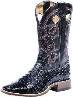 American Boots - Cowboy Exotic (Alligator) BO-8514-65-E (Normal Walking) - Men - Black