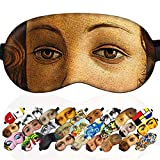 Sleep Mask The Birth of Venus Sandro Botticelli Masterpiece for Women - 100% Soft Cotton - Comfortable Eye Sleeping Mask Night Cover Blindfold for Travel (The Birth of Venus, Gift Pack)