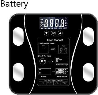 Báscula De Baño Smart Body Fat Scale Floor Scientific Smart Electronic Led Digital Peso Medición De Equilibrio Aplicación Bluetooth Android O Ios Batería