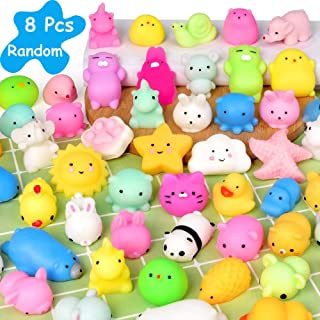 Mochi Squishy Toys Mini Squishy Kawaii Animal Squishies Squeeze Toy Cat Squishy Stress Relief Toys for Adults Goodie Bag F...
