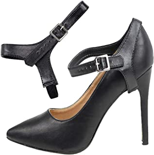 Eliza May Detachable Shoe Straps ShooStraps - to Hold Loose high Heeled Shoes, Wedges and Flats