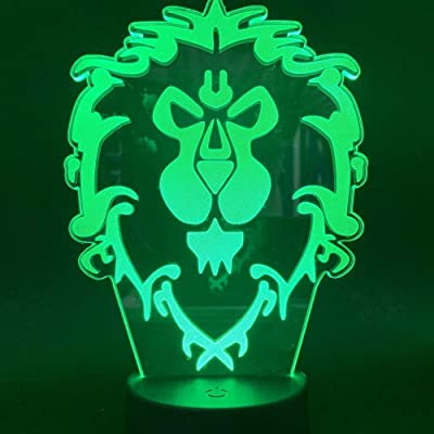 World of Warcraft luce notturna lampada LED cambia colore con USB