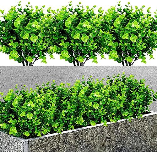 7 Pezzi Artificiale Piante di Plastica, Artificiale Verde Rami Piante , Piante Artificiali da Interno per Decorazioni Balcone Giardino Vaso Interno Casa Cucina Ufficio Decor