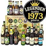 Legenden 1973 - Geschenkbox 1973 - Bier aus aller Welt und D 24x / Bier Kalender Weihnachten