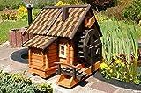 Deko-Shop-Hannusch Wunderschöne große Wassermühle aus Holz im blockhausstil mit Holzschindeldach