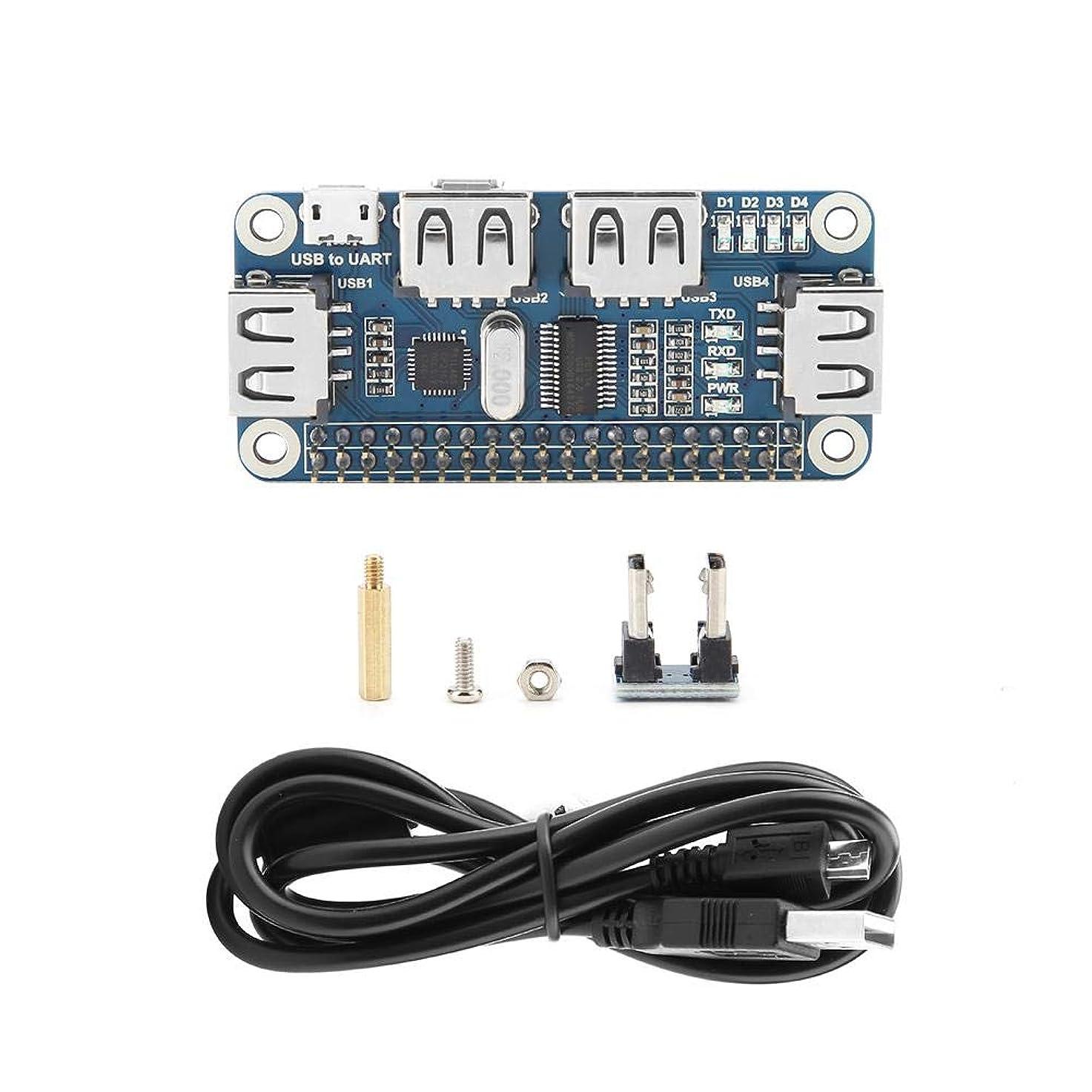 ブリリアント王位バリーRaspberry Pi Zero 5V用マイクロUSB OTGホストハブアダプター4ポート
