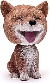 SELUXU Simulación sacudiendo cabeza perro Nodding perro muñeca decoración bobble-head perro juguete para el