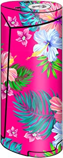 Skin Decal Vinyl Wrap for Smok Priv V8 Vape stickers skins cover / Pink Neon Hibiscus Flowers