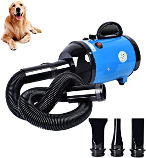 Gluckluz Pet Hair Dryer Blower Blowing Machine Hair Drying for Dog Cat Grooming Fur Blaster High Velocity Powerful Hairdry...