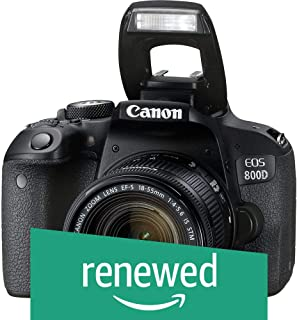(Renewed) Canon EOS 800D 24.2MP Digital SLR Camera + EF-S 18-55 mm is STM Lens + 16GB Memory Card + Carrycase