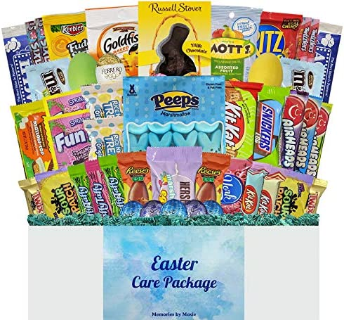 45 CT Deluxe Easter Basket Care Package with Blue Grass for Teens Adults College Students Men product image