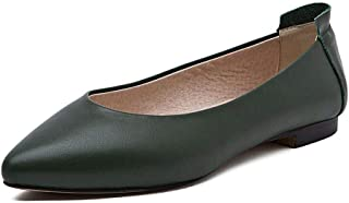 BLUMEN Women Flat Shoes Slip On Extremely Soft Dark Green