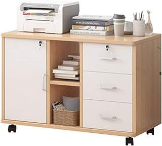 Rangement de dossiers Cabinet de classement en bois de bureau avec verrouillage Petite armoire armoire armoire basse armoi...