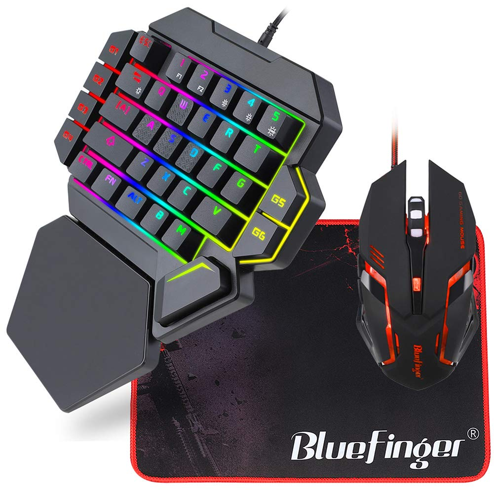 Mechanical Keyboard Backlit BlueFinger Rainbow