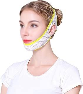 XIANWEI Ceinture Amincissante pour Visage  Masque V-Line Bandage Amincissant Soin Visage Double Menton Masque Amincissant Enveloppement Raffermissant pour Menton