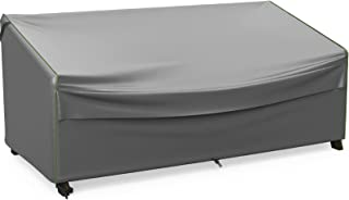 NUPICK Patio Sofa Cover, 78 Inch Outdoor Furniture 3-Seat Couch Cover, 100% Waterproof, Rip-Stop and Weather Resistant, Grey