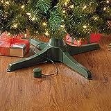 BrylaneHome Musical Rotating Christmas Tree Stand, Green