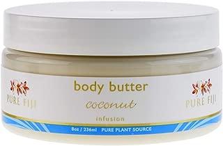 PURE FIJI Body Butter, Coconut, 8 Ounce