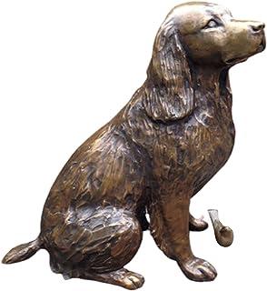 XINSTAR Statue de jardin épagneul springer en résine - Sculpture de chien - Décoration extérieure - Durable - Cadeau idéal...