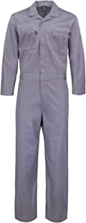 Kolossus Deluxe Long Sleeve Cotton Blend Coverall with Multi Pockets and Antistatic Zipper