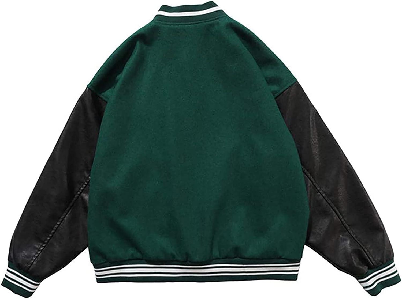 N-G Men's Baseball Jacket Varsity Casual Sweatshirt Patchwork Stand Collar Sport Outwear Streetwear Tops Bomber Coats