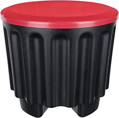 Cutting EDGE Eco-Plastic 4-in-1 Round Ottoman Kids' Chair Childrens Stool + Storage Box [13 Litre] + Garden/Bath Stool & Organizer + Side Table for Home & Garden (Set of 2)